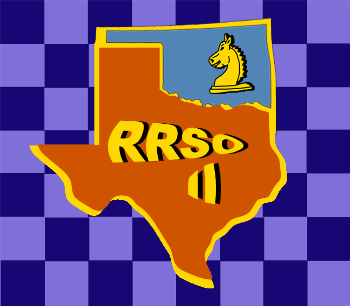 Logo for the second annual team match between the most fanatical chess players in Oklahoma and Texas